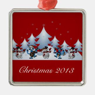 Holiday Snowmen Ornament
