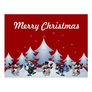 Holiday Snowmen Postcard