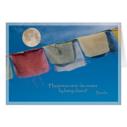 Holiday Solstice Tibetan Prayer Flags Card