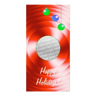 Holiday Spin tall Photo Card