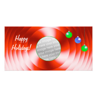 Holiday Spin wide Photo Card Template