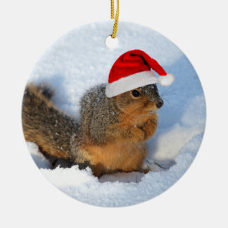 Holiday Squirrel Christmas Ornament