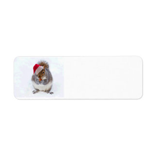 Holiday Squirrel Return Address Label