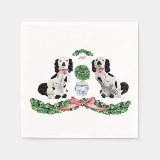 Holiday Staffordshire Pups by Redux121DesignStudio Paper Napkins