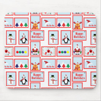 Holiday Stamp Pattern Mouse Pad