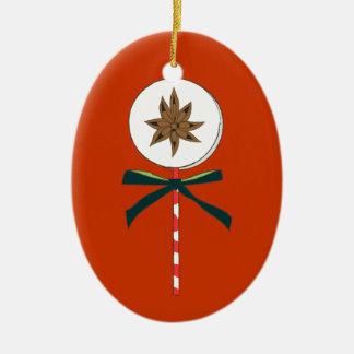 Holiday Star Anise LolliPop Illustration Christmas Ornament