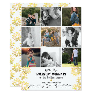 Holiday Star Everyday Moments 9 Photo Collage 13 Cm X 18 Cm Invitation Card
