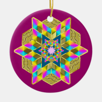 Holiday Star Qullt Christmas Ornament