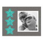 Holiday Stars Photo Postcard {silver}