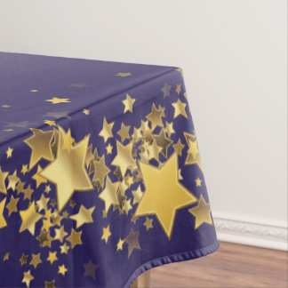 "Holiday Stars Tablecloth ""60x84""-Purple"