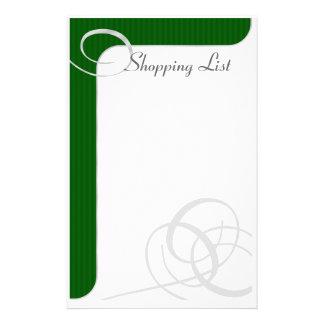 Holiday Stationary Green/Silver Stationery