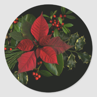 Holiday Stickers, Large Classic Round Sticker