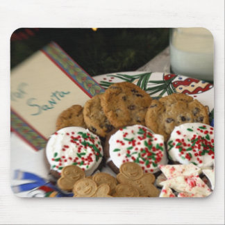 Holiday still life. Christmas cookies & milk for 2 Mouse Mat