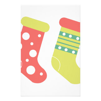 Holiday Stockings Stationery Paper