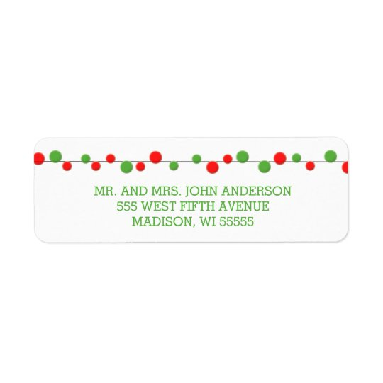 Holiday String Lights Modern Holiday Labels
