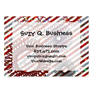Holiday Stripes and Spirographs Sparkling Pattern Pack Of Chubby Business Cards