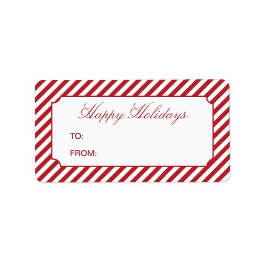 HOLIDAY STRIPES | GIFT TAGS ADDRESS LABEL