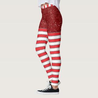 Holiday Stripes Pop Leggings