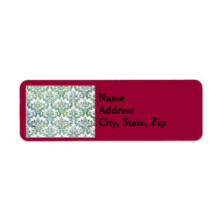 Holiday template return address label