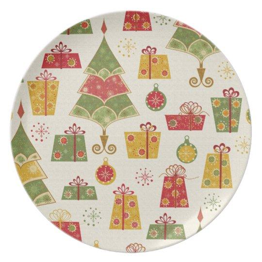 Holiday Theme Christmas Cookies Plate