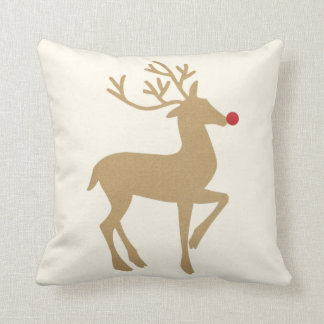 Holiday Throw Pillow the Reindeer
