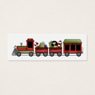 Holiday Train Gift Tag Mini Business Card
