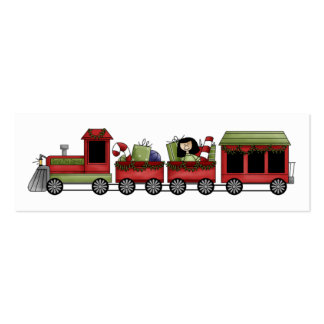 Holiday Train Gift Tag Pack Of Skinny Business Cards