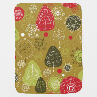Holiday Tree Background Baby Blanket