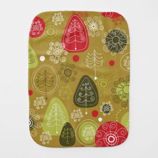 Holiday Tree Background Burp Cloth