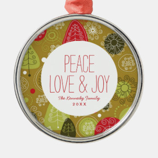 Holiday Tree Background Christmas Ornament