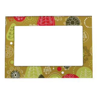 Holiday Tree Background Magnetic Frame