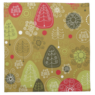 Holiday Tree Background Napkin