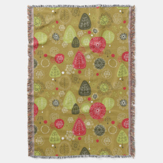 Holiday Tree Background Throw Blanket