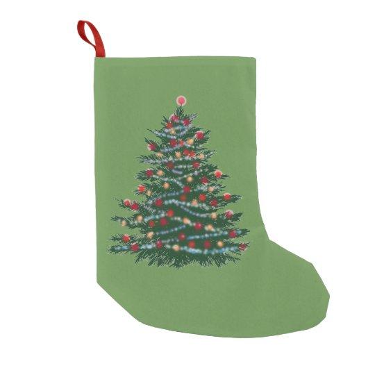 Holiday Tree Custom Christmas Stocking