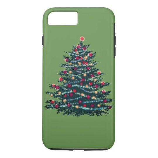 Holiday Tree Green Bacground Case