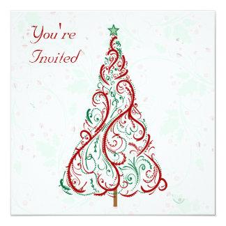 Holiday Tree Party Invitation
