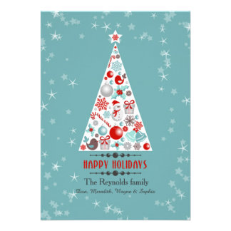 Holiday Tree Vertical Photo Card