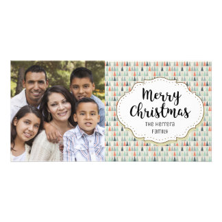 Holiday Trees Modern Christmas Picture Photo Card