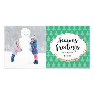 Holiday Trees Seasons Greetings Picture Photo Card
