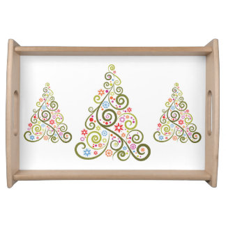 Holiday Trees Serving Tray