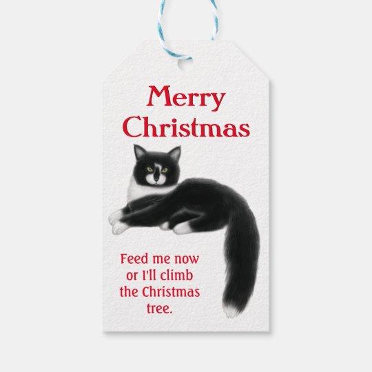Holiday Tuxedo Cats Christmas Gift Tags