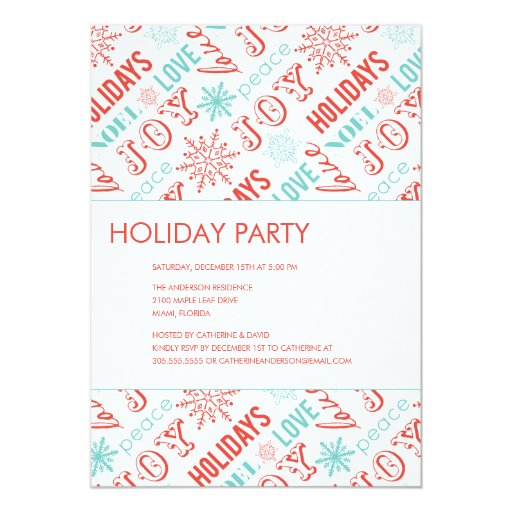 HOLIDAY TYPE    HOLIDAY PARTY INVITATIONS
