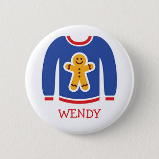 Holiday Ugly Sweater Party Name Tags 6 Cm Round Badge