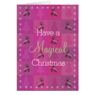"""""""Holiday Unicorn"""" Christmas Note Cards (Pink)"""