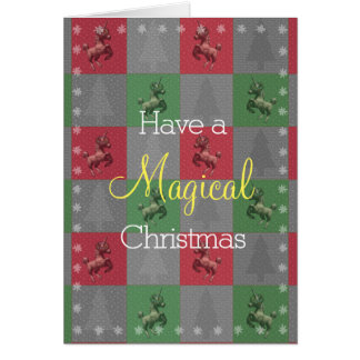 """""""Holiday Unicorn"""" Christmas Note Cards (R/G)"""