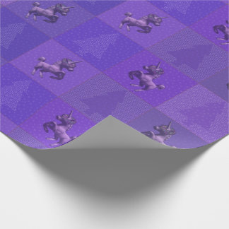 """""""Holiday Unicorn"""" Christmas Wrapping Paper (Purpl)"""