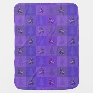 """Holiday Unicorn"" Pattern Baby Blanket (Purple)"