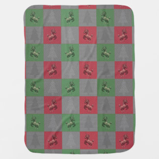 """Holiday Unicorn"" Pattern Baby Blanket (R/G)"