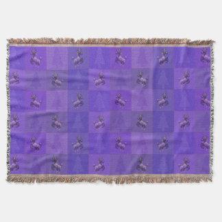 """Holiday Unicorn"" Pattern Throw Blanket (Purple)"
