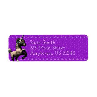 """""""Holiday Unicorn"""" Xmas Return Address Labels (Ppl)"""